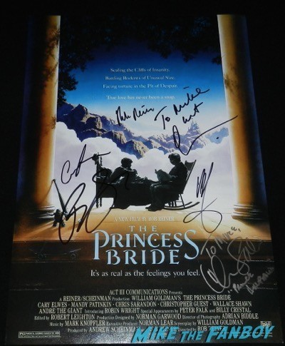 Princess Bride poster signed autograph chris sarandon