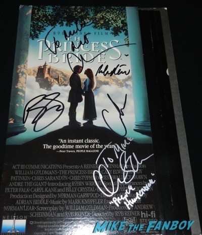 Princess Bride counter stand standee signed autograph chris sarandon