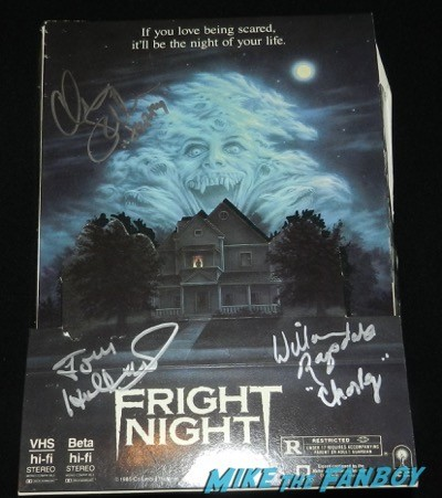 Fright night signed autograph counter standee chris sarandon