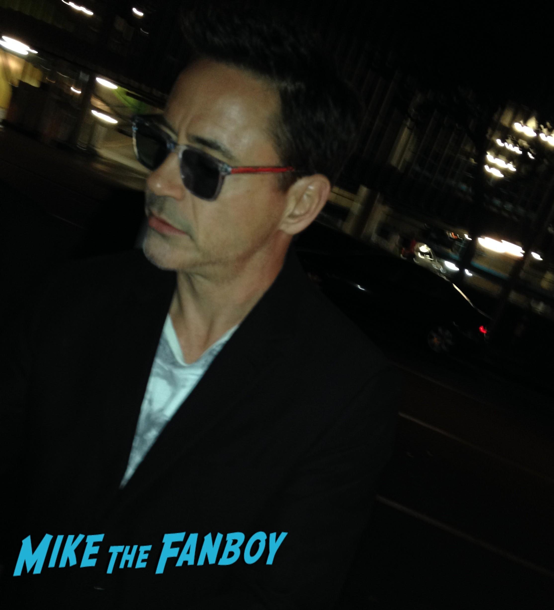 Robert Downey Jr. Iron Man Chaplin Autograph