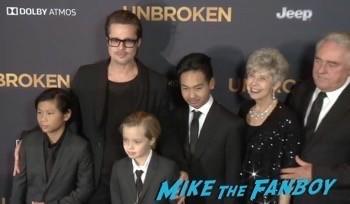 unbroken Los Angeles Premiere Brad Pitt Shiloh jolie pitt 7