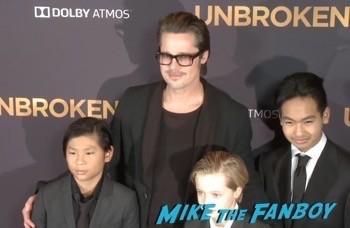 unbroken Los Angeles Premiere Brad Pitt Shiloh jolie pitt 9