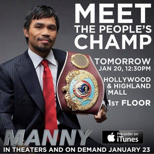 manny Pacquiao meet and greet