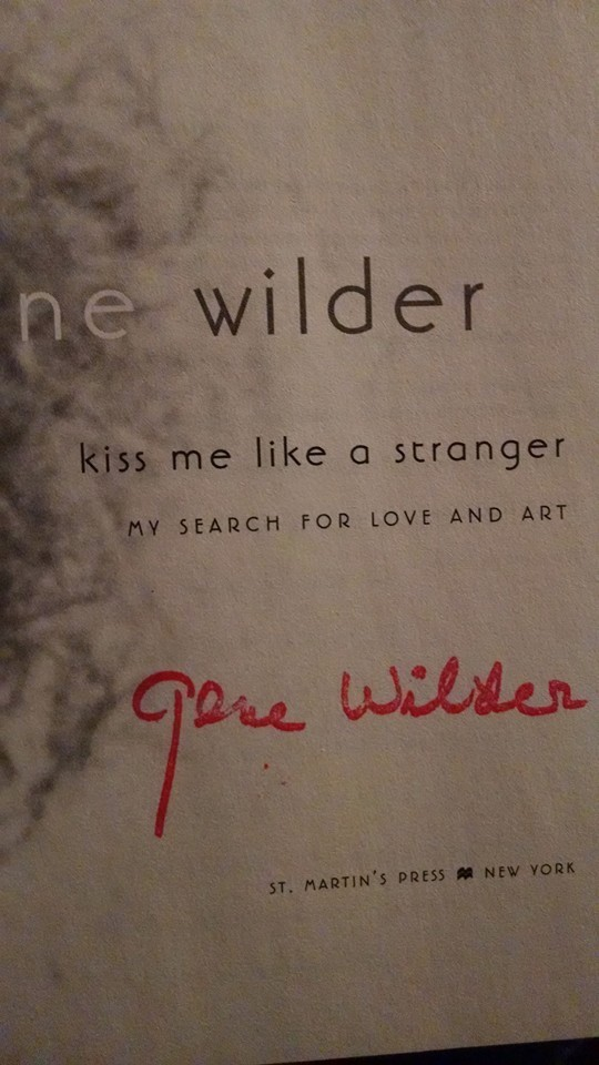 gene wilder signed book
