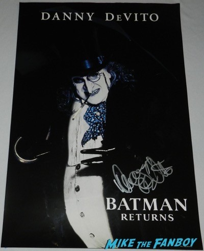 Danny DeVito autograph signed batman returns individual mini poster penguin