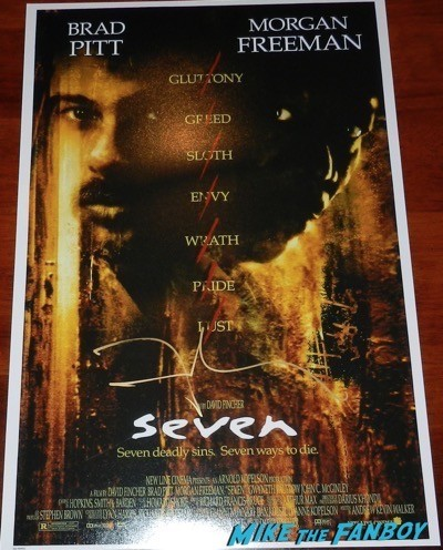 David Fincher signed autograph fight club panic room poster 10