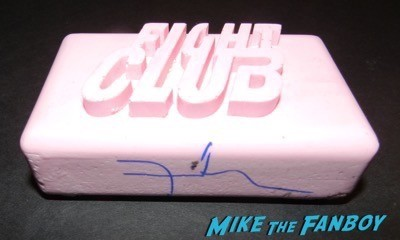 fight club bar of soap David Fincher signed autograph fight club panic room poster 11