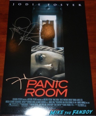 David Fincher signed autograph panic room poster 3