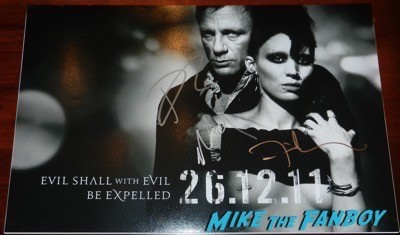 David Fincher signed autograph the girl with the dragon tattoo poster