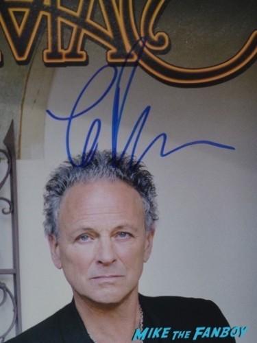 Lindsey Buckingham signed autograph poster lp signing autographs fan photo rare largo3