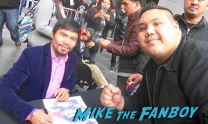Manny Pacquiao meet and greet hollywood and highland