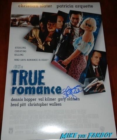 patricia arquette signed true romance poster
