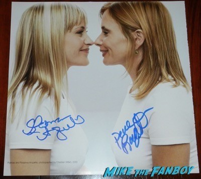 Patricia Arquette rosanna arquette signed gab photo
