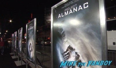 Project Almanac los angeles premiere Jonny Weston jordana brewster 4