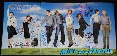 six feet under cast poster signed richard jenkins
