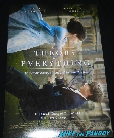 theory of everything cast signed poster