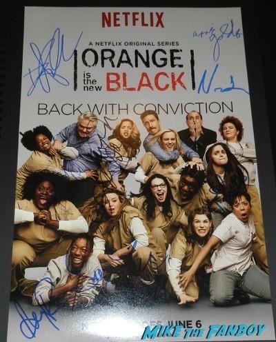 orange is the new black season 2 cast signed poster