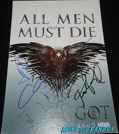game of thrones cast signed counter stand