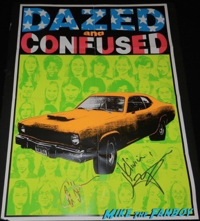 Matthew McConaughey signed autograph dazed and confused mini poster