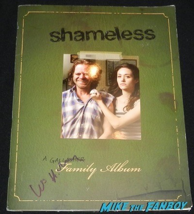 william H. Macy signed shameless presskit