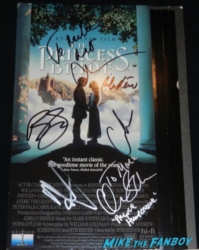 princess bride counter stand vhs signed autograph