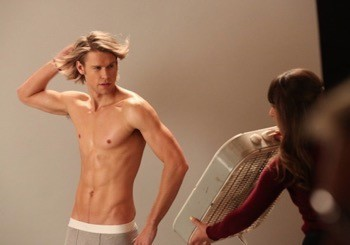 chord overstreet shirtless naked in his underwear glee season 5