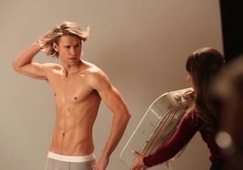chord overstreet shirtless naked in his underwear glee season 5