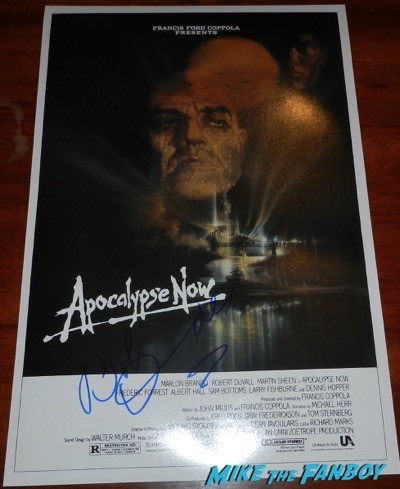 robert duvall signed autograph apocalypse now mini poster