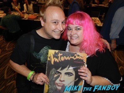 keith coogan and pinky at the hollywood show