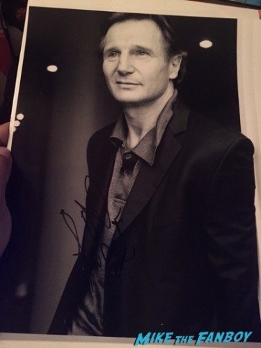 liam neeson signed photo taken 3 fan event meeting liam neeson famke janssen 6