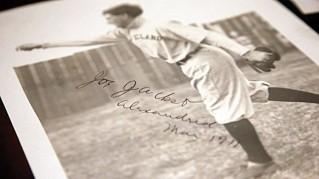 shoeless joe jackson signed photo