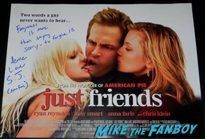 Anna Faris signed autograph just friends mini poster uk quad