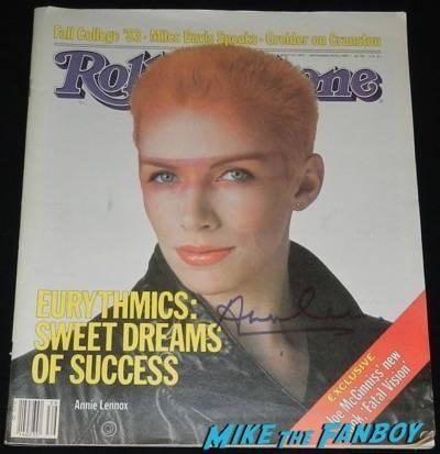 Annie Lennox signed 1983 rolling stone magazine