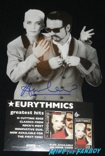 Annie Lennox signed eurythmics greatest hits counter standee