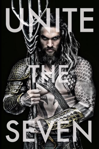 aquaman movie poster Batman v Superman sneak peak