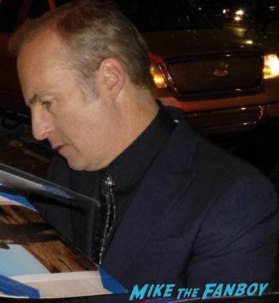 Better Call Saul premiere bob odenkirk bryan cranston signing autographs 3