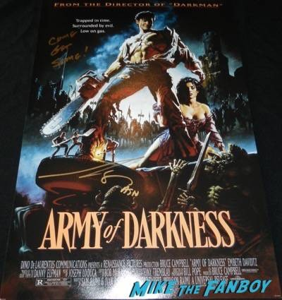 Bruce Campbell signed autograph army of darkness poster