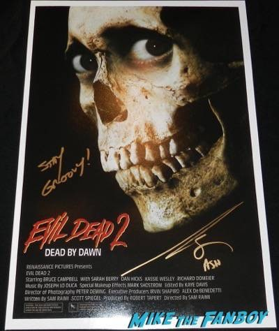 Bruce Campbell signed autograph evil dead 2 poster