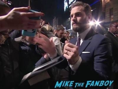 Fifty Shades of Grey London Premiere Jamie Dornan Signing autographs 10