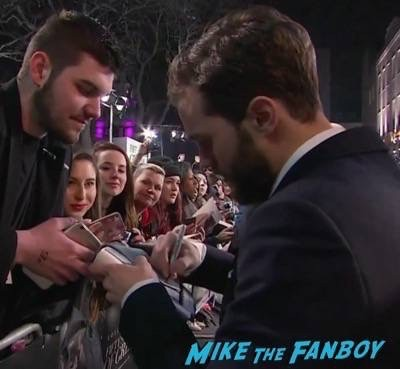 Fifty Shades of Grey London Premiere Jamie Dornan Signing autographs 11