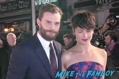 Fifty Shades of Grey London Premiere Jamie Dornan Signing autographs 18
