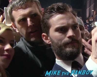 Fifty Shades of Grey London Premiere Jamie Dornan Signing autographs 19
