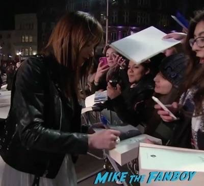 Fifty Shades of Grey London Premiere Jamie Dornan Signing autographs 2