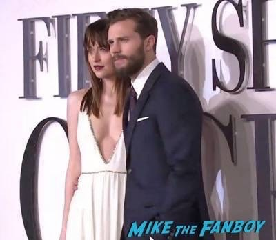 Fifty Shades of Grey London Premiere Jamie Dornan Signing autographs 21