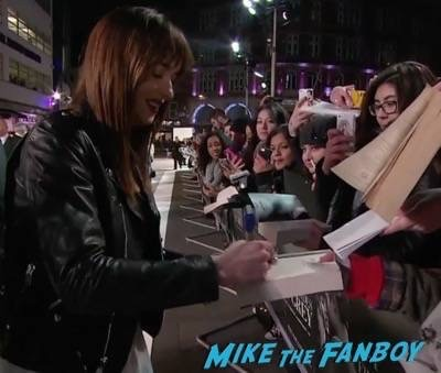 Fifty Shades of Grey London Premiere Jamie Dornan Signing autographs 22