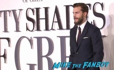 Fifty Shades of Grey London Premiere Jamie Dornan Signing autographs 3