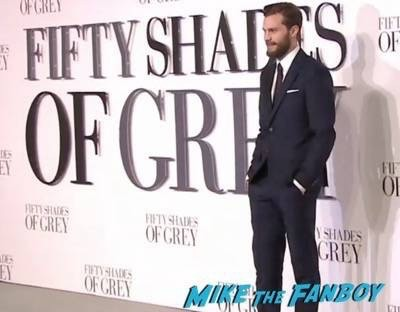 Fifty Shades of Grey London Premiere Jamie Dornan Signing autographs 6