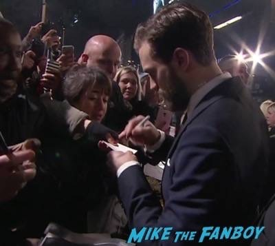 Fifty Shades of Grey London Premiere Jamie Dornan Signing autographs 7