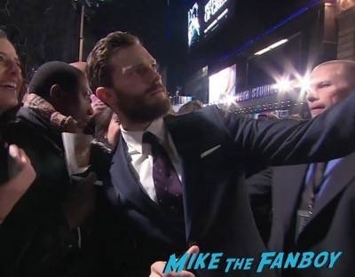 Fifty Shades of Grey London Premiere Jamie Dornan Signing autographs 8
