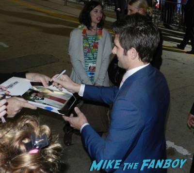 adam scott signing autographs Hot Tub Time Machine 2 premiere signing autographs adam scott 11